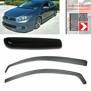Window Sunroof 3pc Visor Vent Shade Rain Guard Smoke For 2011 2017 Scion Tc