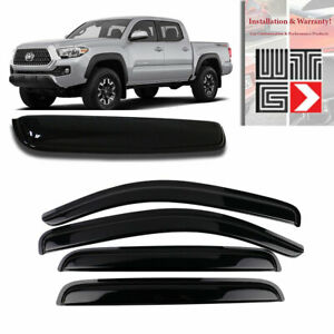 Window Sunroof 5pc Visor Guard For 2016 2019 Toyota Tacamo Double Cab Crew Cab