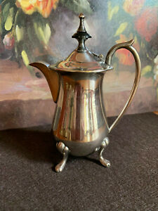 Antique Small Silver Plate Teapot Single Serve