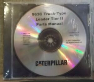 Cat Caterpillar 963c Track Loader Tier Ii Parts Manual Book S n Bbd00001 up Cd