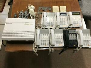 Panasonic Kx ta624 Hybrid Phone System With 7 Phones And 2 Door Phones
