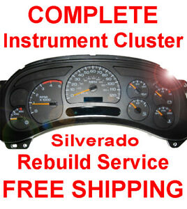 1999 2007 Chevy Silverado Instrument Gauge Cluster Speedometer Dash Panel Repair