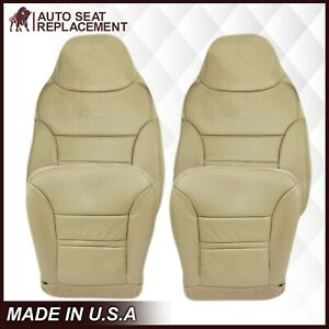 2000 2001 Ford Excursion Limited Xlt Leather Seat Covers Tan Choose Bottom Back