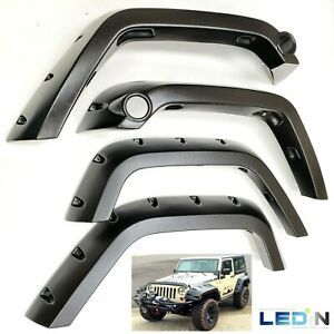 Fender Flares For 2007 2017 Jeep Wrangler Jk 2 4 Dr Pocket Style Protector Set
