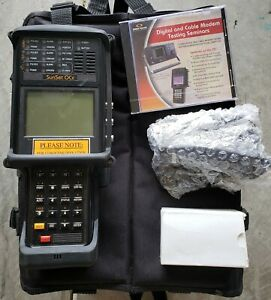 Sunrise Telecom Sunset Ocx Sonet Handheld Testing Analyzer power Supply Case