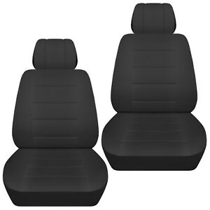 Front Set Car Seat Covers Fits 2005 2020 Toyota Tacoma Solid Charcoal