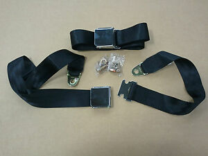 4 Lap Seat Belts Vintage Bmw 2002 1600 2002tii E10 Front And Rear Black 2 Point