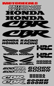 Cbr600rr Cbr 600 Rr Sticker Decal Side Tail Upper Fender Tank Emblem Graphic Kit