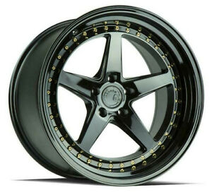 18x8 5 18x9 5 5x108 Aodhan Ds05 Gloss Black Made For Ford Volvo Jaguar