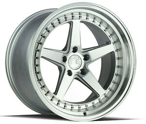 18x8 5 18x9 5 5x108 Aodhan Ds05 Silver Machine Made For Ford Volvo Jaguar
