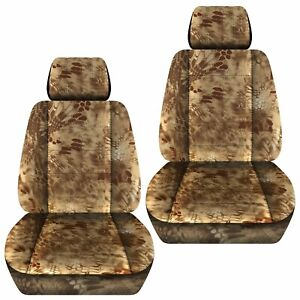 Front Set Car Seat Covers Fits 2005 2020 Toyota Tacoma Kryptec Tan