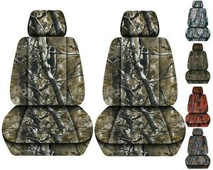 Front Set Car Seat Covers Fits 2005 2020 Toyota Tacoma Camo Woods