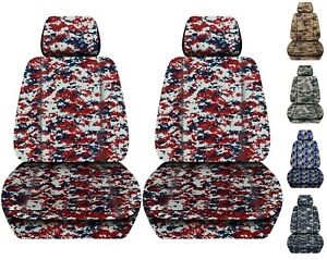 Front Set Car Seat Covers Fits 2005 2020 Toyota Tacoma Camo Real Tree