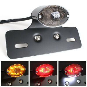 Led Tail Light Motorcycle Integrated Plate Mount Turn Signal Lights Universal