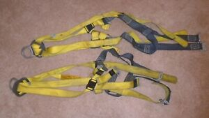 Lot Of 2 Used Dbi Sala 1103376 Cross over Positioning climbing Harness xl