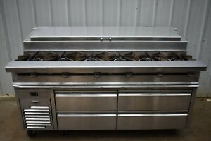 Jade Jmss 06 t 72 Fire Ice Sauteed Station With Refrigerated Chef Base