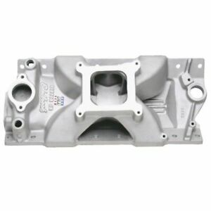 Edelbrock 2975 Intake Manifold Victor Jr Single Plane Aluminium Natural Sq