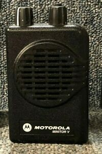 Motorola Minitor V 5 2 channel Vhf Stored Voice Sv Pager 151 159 Mhz Very Good