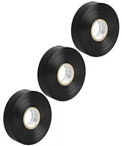 3x 65ft 0 75 Inch 3 4 Pvc Vinyl Electrical Electricians Insulated Tape Black