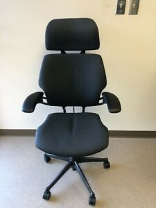 Humanscale Freedom Task Chair Gray Hematite Lotus With Headrest