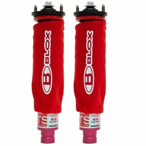 Blox Racing Coilover Covers Neoprene Red Pair 2