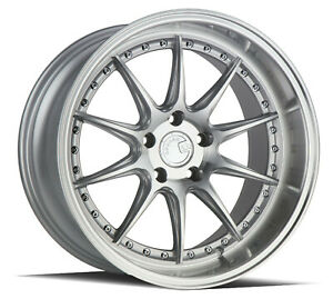 18x8 5 5x108 Aodhan Ds07 Silver Machine Made For Ford Jaguar Volvo