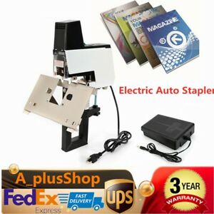 Electric Auto Stapler Saddle Stitching Binder Machine Book Binding Machine Usa