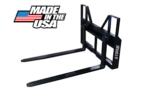 3500 Lb Falcon Skid Steer Tractor Pallet Forks Adjustable made In The Usa