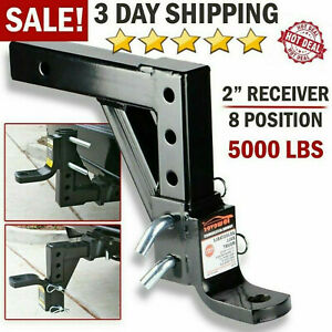 Drop Adjustable Ball Mount For Car Trailer Hitch Tow 2 Receiver Towing System