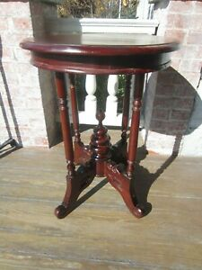 Antique Victorian Round Walnut Table Unusual 1870