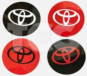 6pc Center Cap Vinyl Sticker Decal Overlay For Toyota Two Layer