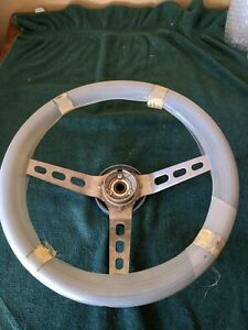 Nos Genuine Amc Jeep Blue Leather Covered Sport Steering Wheel 1979 J10 Cherokee