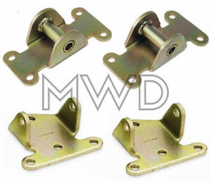 Small Block Chevy 350 Solid Steel Engine Motor Mount Set