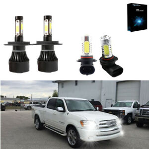For Toyota Tundra 2000 2006 Led Bulbs Kit Headlight H4 Fog Light 9006 6000k 4pc