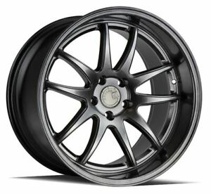 18x8 5 5x108 Aodhan Ds02 Hyper Black Made For Ford Jaguar Volvo