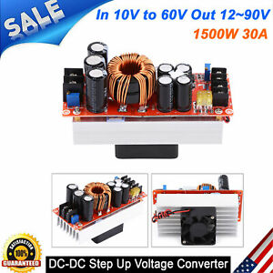 Dc dc Boost Converter Step up Power Supply Module 1500w 30a In 10 60v Out 12 90v