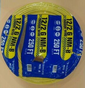 12 2 Romex Wire 12 2 Awg 250 Non Metallic Cable Copper Electrical Wire Made Usa