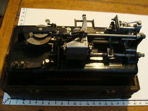 Early Engravograph In Case W Letters Type A So Cool Looking