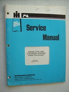 Original International Kohler Two Cylinder Engine Fuel Electrical Service Manual