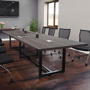 Modern Conference Room Table With Metal Base Boardroom 8 10 12ft 14 Ft 16 Foot