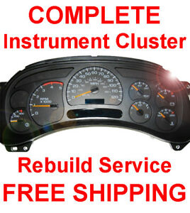 1999 2007 Gmc Sierra Instrument Gauge Cluster Speedometer Dash Panel Repair