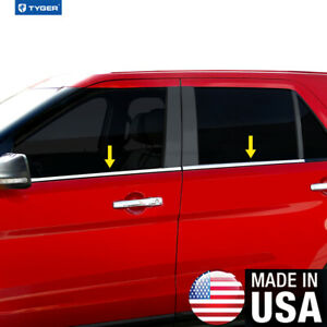 Tyger For 07 2015 Jeep Patriot 4pc Stainless Steel Chrome Window Sill Overlay