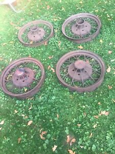 1930 1931 Model A Ford Wheel Wire Matched Set Of Four Original 19 Very Good Use