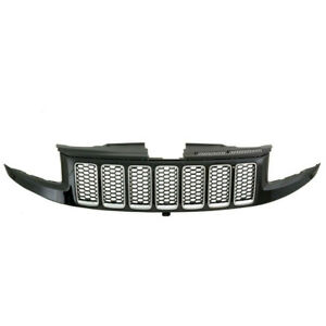Front Bumper Honeycomb Mesh Grille Grill For 14 16 Jeep Grand Cherokee Srt8 Type
