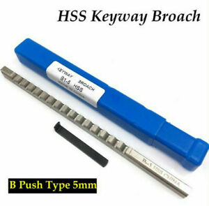 5mm B1 Push type Keyway Broach Hss Metric Size Cnc Machine Tool