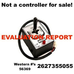 Repair Evaluation Report Joystick Board Fisher Western Snow Plow 6pin Controller