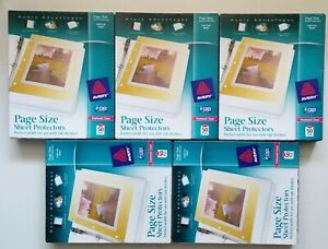 1 Case 10 Boxes Avery 74203 Top load Poly 3 hole Punch Sheet Protectors