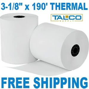 24 3 1 8 X 190 Thermal Receipt Paper Rolls fast Free Priority Shipping