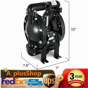 Air operated Double Diaphragm Pump 35 Gpm 1 Inch Inlet outlet 1 2 Inch Air Inlet