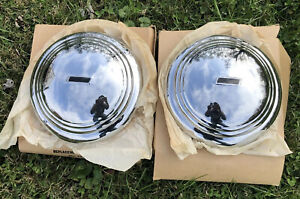 Nos Pair Of Aftermarket 1935 1936 Chevrolet Master Car And Truck Hub Caps Vtg